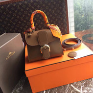 [Final Sale] Delvaux box leather Brilliant Mini Brown