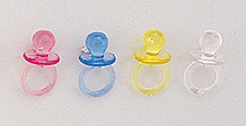 "1"" Plastic Baby Shower Pacifier - Pack of 2880 Count (20 Gross)"