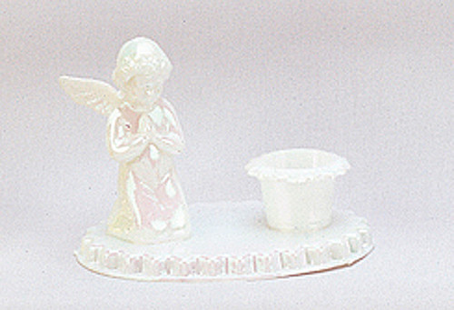 "3.5"" Iridescent White Angel Baptism Candle Holder - Baptism Supply - Pack of 72 Count"