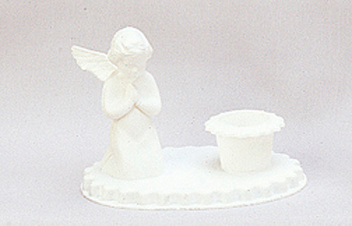"3.5"" White Angel Baptism Candle Holder - Baptism Supply - Pack of 72 Count"