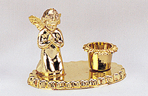 "3.5"" Gold Angel Baptism Candle Holder - Baptism Supply - Pack of 72 Count"