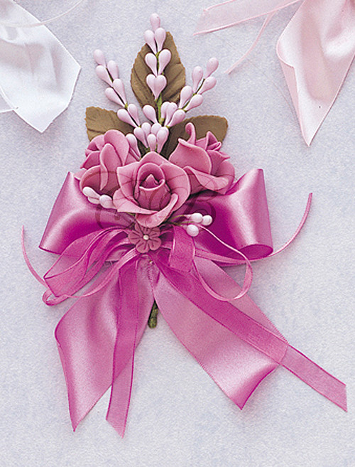 "6"" Lavender Silk Clay Corsage Flowers - Pack of 6"