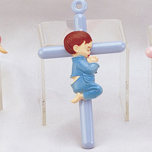 "6 1/4"" Praying Boy Cross Charm - Pack of 120 Count"