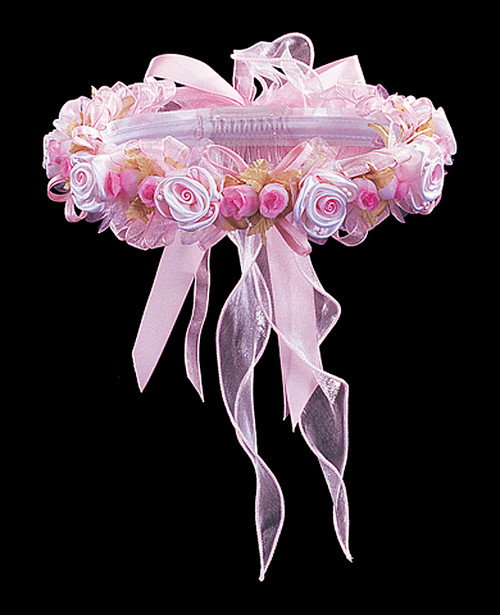Pink bridal wedding flower headpiece 2 cb flowers crafts for Cb flowers and crafts