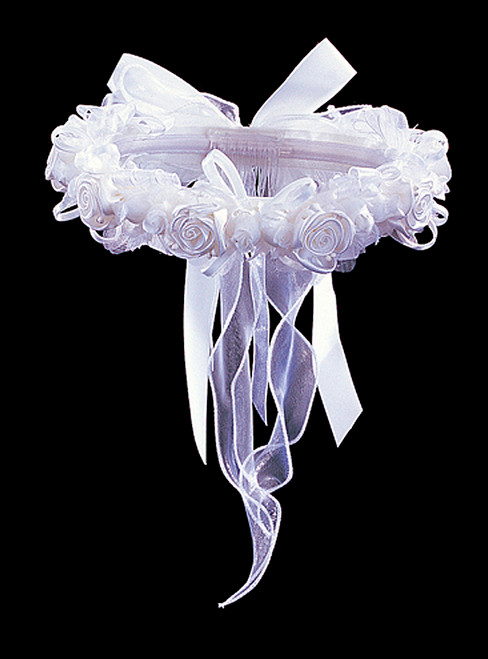 White bridal wedding flower headpiece 2 cb flowers crafts for Cb flowers and crafts