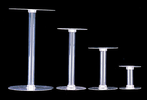 "8"" Diameter 10"" Height Clear Centerpiece Acrylic Decorative Flower Base Stand - Pack of 12 Count"