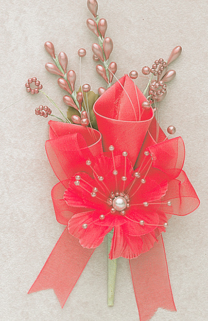 """7"""" Coral Large Silk Calla Lily Corsage Flowers - Pack of 12"""