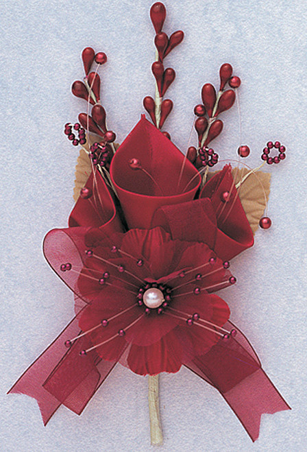 """7"""" Burgundy Large Silk Calla Lily Corsage Flowers - Pack of 12"""