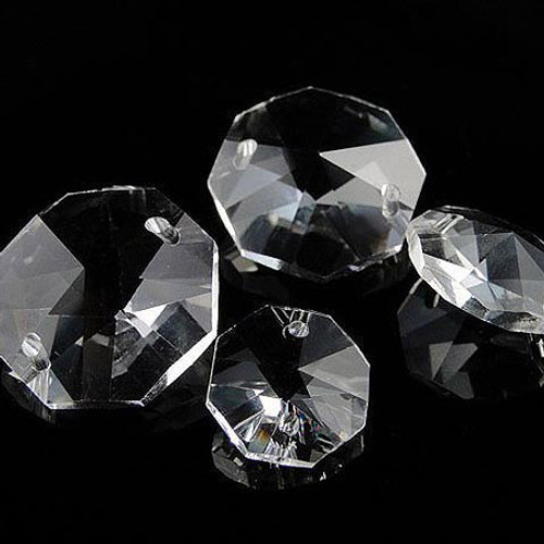 14mm Clear Crystal Octagon Prism Beads - Pack of 200