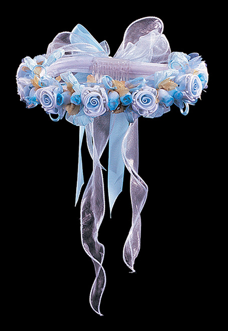 Light blue bridal wedding flower headpiece 2 cb flowers for Cb flowers and crafts
