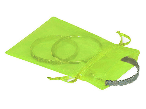 "4""x6"" Apple Green Organza Sheer Gift Favor Bags - Pack of 144"