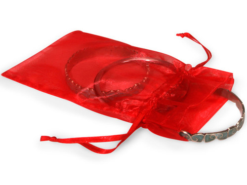 "4""x6"" Red Organza Sheer Gift Favor Bags - Pack of 144"