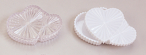 """2 3/4"""" Plastic Double Heart Shaped Favor Gift Box - Pack of 144 Count"""