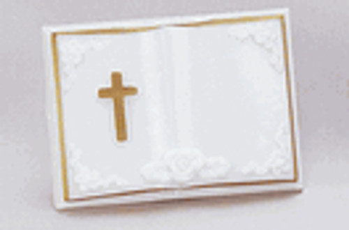 "3 1/4"" Open Bible with Cross"