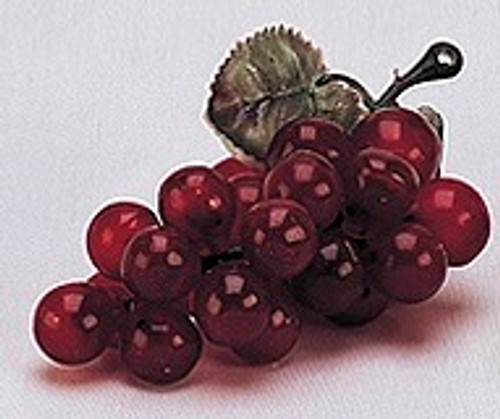 """4"""" Red Artificial Grapes - Pack of 144 Plastic Grape Clusters"""