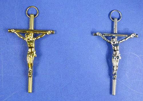 "3"" Catholic Metal Cross Pendants - Pack of 10 Pendants"
