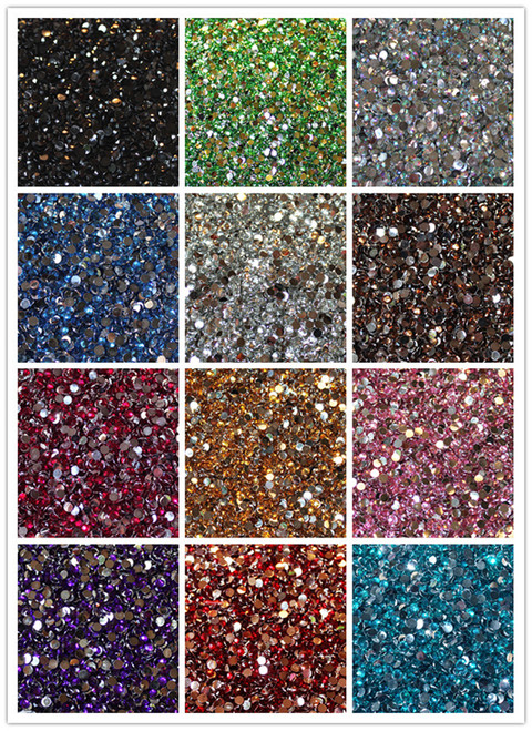 2mm ss6 wholesale flat back acrylic rhinestones pack of for Rhinestone jewels for crafts