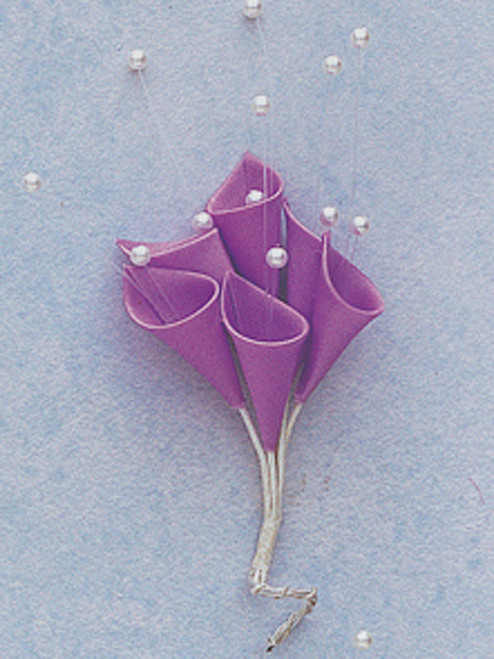 Lavender Silk Calla Lily Flowers with Pearl - Pack of 72