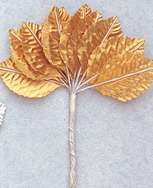 "1 3/4"" Gold Flower Leaf - Pack of 6 Gross"