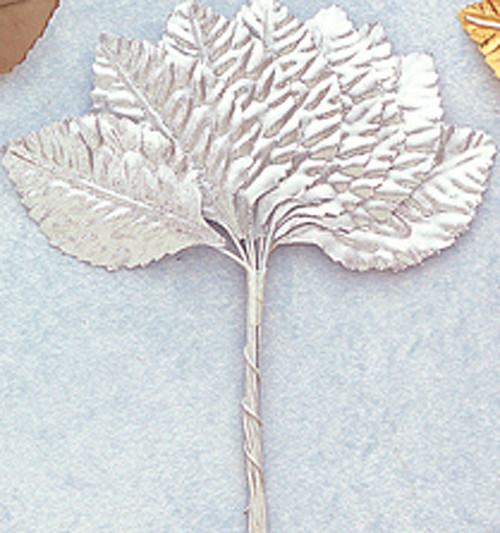 "1 3/4"" Silver Flower Leaf - Pack of 6 Gross"