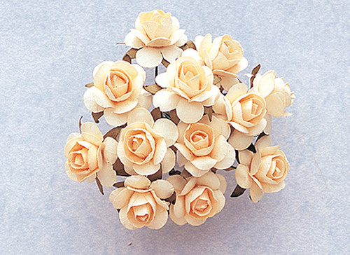"3/4"" Banana Medium Rose Craft Paper Flowers - Pack of 144"