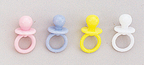 "3/4"" Plastic Baby Shower Pacifier - Pack of 2880 Count (20 Gross)"