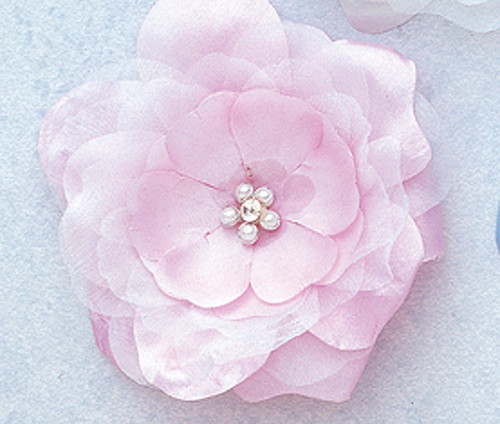 """4.5"""" Lavender Large Silk Flowers with Rhinestone - Pack of 12 Pieces"""