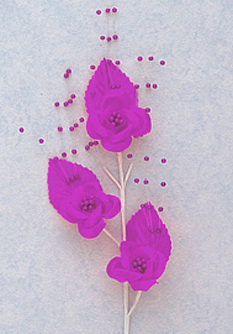 "6"" Purple Small Rose Flowers with Spray - Pack of 12"