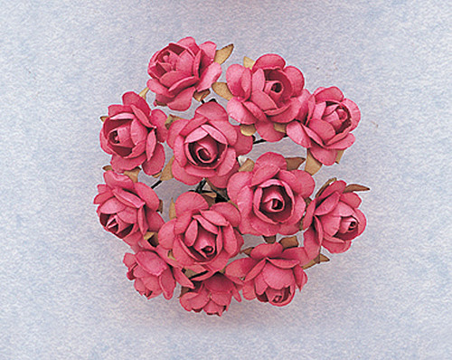 """1/2"""" Mauve Small Rose Craft Paper Flowers - Pack of 144"""