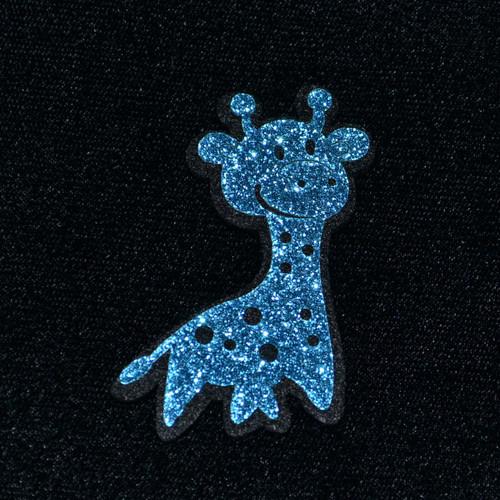"""2.5"""" Blue Felt Giraffe - 12 Pieces"""