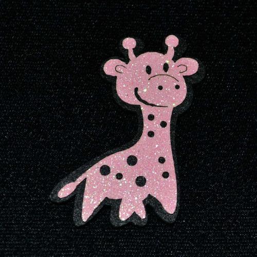 """2.5"""" Pink Felt Giraffe  - 12 Pieces"""