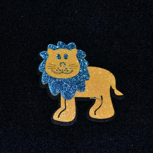 """2.5"""" Blue Felt Lion  - 12 Pieces"""