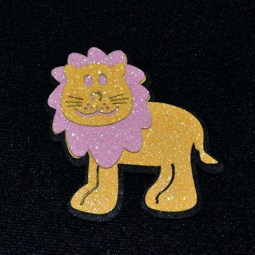 """2.5"""" Pink Felt Lion - 12 Pieces"""