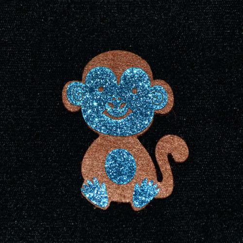 """2.5"""" Blue Felt Monkey - 12 Pieces"""