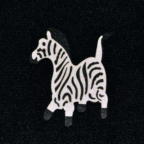 """2.5"""" Felt Zebra - 12 Pieces"""