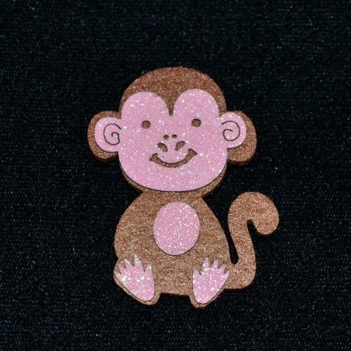 """2.5"""" Pink Felt Monkey - 12 Pieces"""