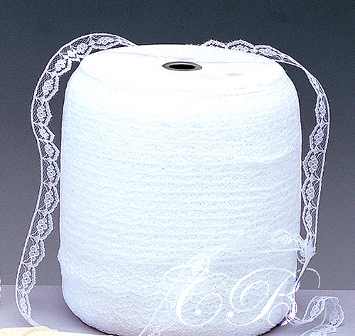 "5/8""x 600 Yards White Flat Lace Trim Roll"