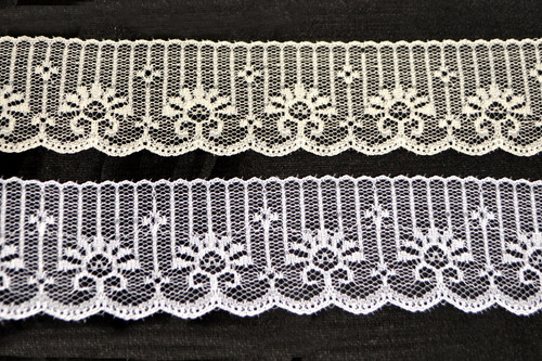 "2"" Wide Flat Lace Trim Roll"