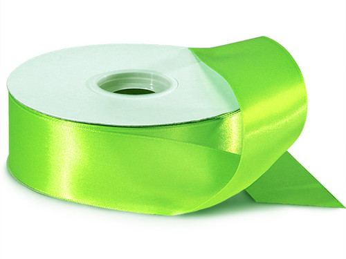 "1.5""x50 yard Apple Green Polyester Satin Gift Ribbon - Pack of 5 Rolls"
