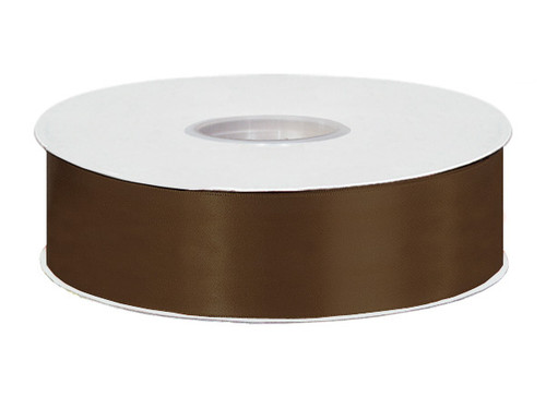 "1.5""x50 yard Brown Polyester Satin Gift Ribbon - Pack of 5 Rolls"