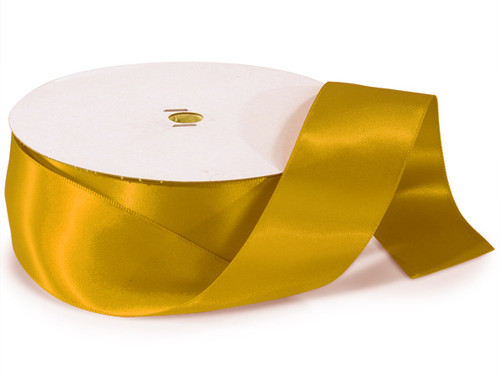 "1.5""x50 yard Gold Polyester Satin Gift Ribbon - Pack of 5 Rolls"