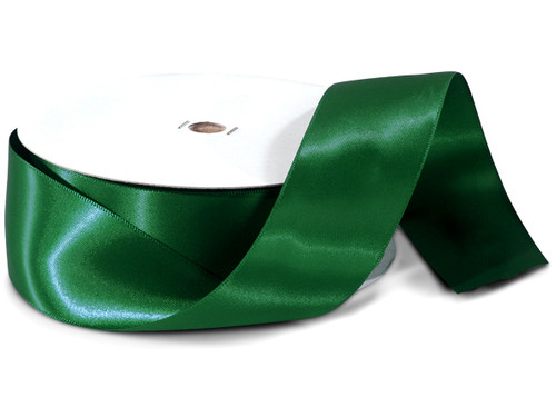 "1.5""x50 yard Hunter Green Polyester Satin Gift Ribbon - Pack of 5 Rolls"