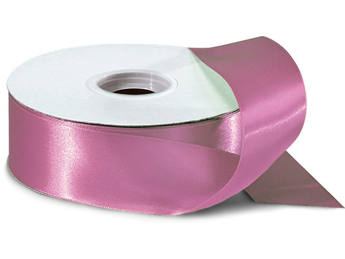 "1.5""x50 yard Mauve Polyester Satin Gift Ribbon - Pack of 5 Rolls"