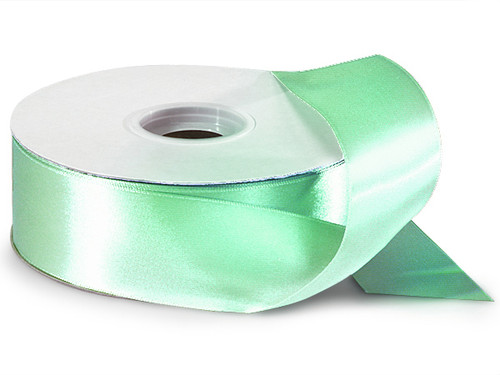 "1.5""x50 yard Mint Green Polyester Satin Gift Ribbon - Pack of 5 Rolls"