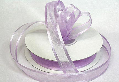 "1.5""x25 yards Lavender Organza Satin Edge Gift Ribbon - Pack of 5 Rolls"