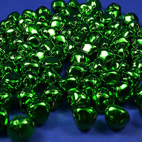 "3/4"" Emerald Metal Jingle Bells - Pack of 100"