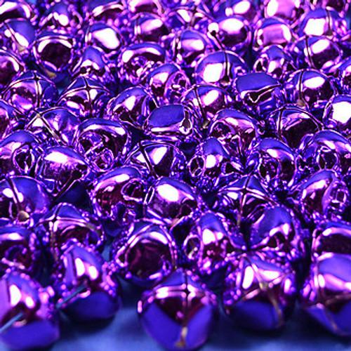 """3/4"""" Purple Metal Jingle Bells - Pack of 100"""