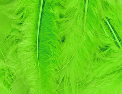 Apple Green Loose Turkey Feathers