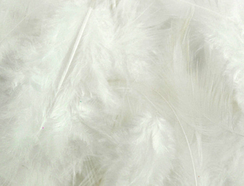 White Loose Turkey Feathers