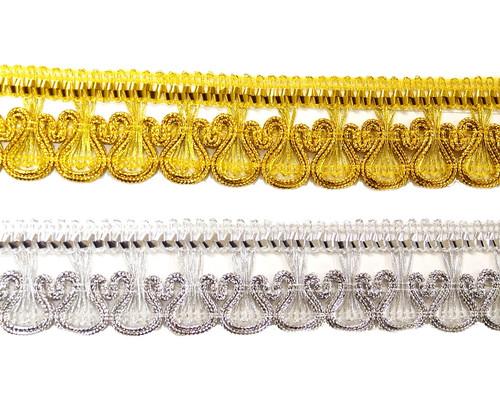 """1""""x 20 Yards Metallic Lace Trim - 5 Packs Metallic Trim 3"""